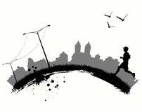 Courir dans la ville illustration libre de droits
