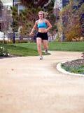 Courir de femme. Photos stock