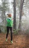 Courir de fille Photographie stock libre de droits
