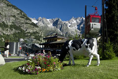 Courmayeur bus station Stock Photography
