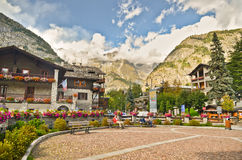 Courmayeur - Italian alps city Stock Image