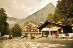 Courmayeur - Italian alps city Stock Photo