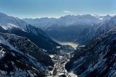 Courmayeur - Italien Arkivbilder