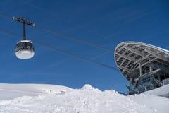 Skyway Monte Bianco, Courmayeur, Italy Stock Photos