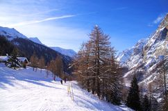 Courmayeur Italy Stock Images