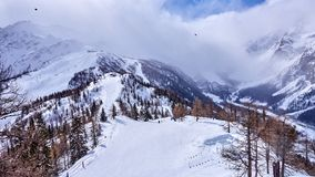 Courmayeur Italy is a very popular ski resort in Europe Stock Photo