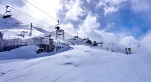 Courmayeur Italy is a very popular ski resort in Europe Stock Photos