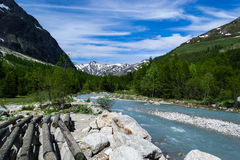 Courmayeur Mountain Landscape Stock Images