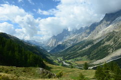 Courmayeur Valley Stock Photo