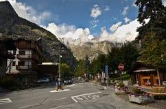 Courmayeur, Włochy zdjęcia stock