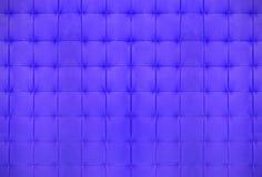 Couro acolchoado azul Fotografia de Stock Royalty Free