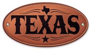 Couro da estrela do mapa do estado de Texas Imagem de Stock
