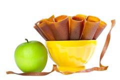 Couro da fruta de Apple Imagens de Stock