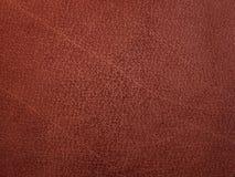 Couro marrom-alaranjado da textura Imagens de Stock
