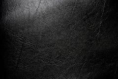 Couro preto textured Imagem de Stock