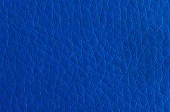 Couro sintético azul profundo Fotos de Stock Royalty Free