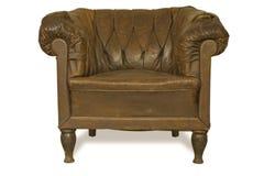 Couro velho armchair-2 Fotos de Stock