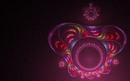 Couronne colorée abstraite Image libre de droits