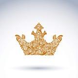 couronne décorative Fleur-modelée, symbole royal d'art Corone de roi Photo libre de droits