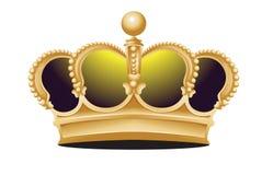 Couronne de roi faite d'or illustration libre de droits