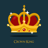 Couronne de roi ou de reine, icône de vecteur de princesse illustration stock