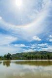 Couronne de Sun sur le ciel bleu Photo libre de droits