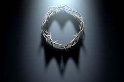 Couronne des épines avec l'ombre royale Photos libres de droits
