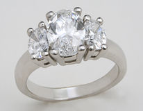 Couronne Diamond Ring Photographie stock