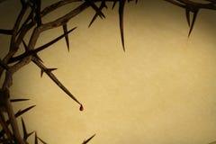 Couronne du Vendredi Saint de fond d'épines Photographie stock libre de droits