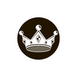 couronne du vintage 3d, illustration de luxe de couronne Impérial classique Photographie stock libre de droits