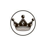 couronne du vintage 3d, illustration de luxe de couronne Impérial classique Photo stock