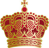 Couronne richement décorée de monarque Photographie stock