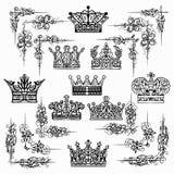 Couronne, roi, secteur, noir illustration stock