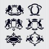 Couronne royale de bouclier de médaillon de crête de vecteur illustration de vecteur