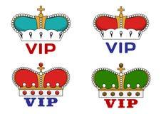 Couronnes avec le signe de VIP Photo libre de droits