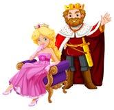Couronnes de port de roi et de reine illustration de vecteur
