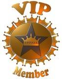 Couronnes et étoile de membre de VIP illustration de vecteur