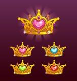 Couronnes fraîches de princesse réglées illustration de vecteur