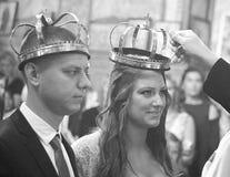 Couronnes pour épouser photographie stock libre de droits