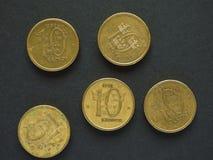 10 couronnes suédoises et x28 ; SEK& x29 ; pièce de monnaie Images libres de droits