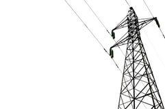 Courrier à haute tension électrique avec le fond d'isolat Photos libres de droits
