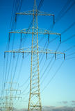 Courrier à haute tension Polonais électriques de puissance Image stock