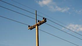 Courrier électrique rural par la route Image stock