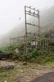 Courrier électrique sur la colline Photographie stock libre de droits