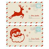Courrier aux cartes de Santa Image stock