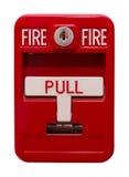 Courrier d'alarme d'incendie image stock