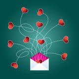 Courrier d'amour Image libre de droits