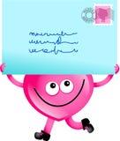 courrier d'amour illustration libre de droits
