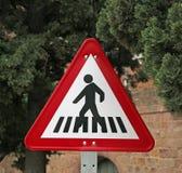 Courrier d'avertissement de passage clouté Photos libres de droits
