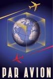 Courrier d'Avion-air de pair Photos libres de droits